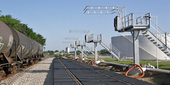 Rail Car Loading Platform